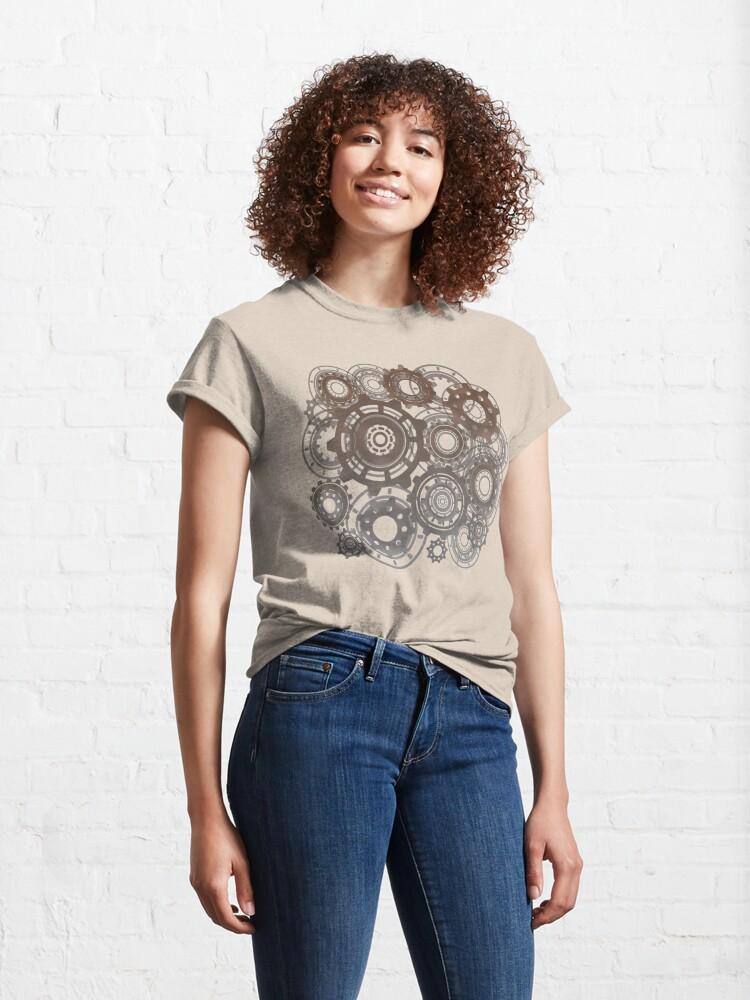 Alternate view of Steampunk Gears Cogs Clockwork Print  Classic T-Shirt