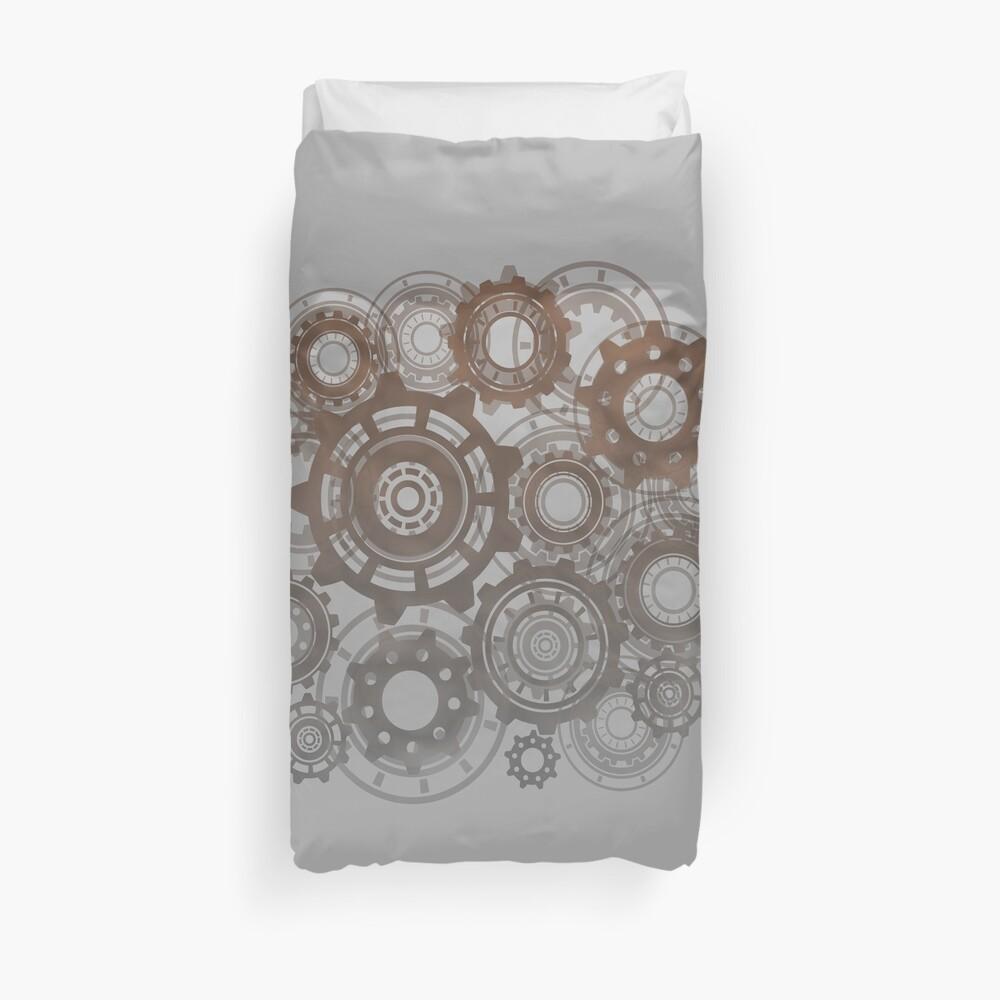 Steampunk Gears Cogs Clockwork Print  Duvet Cover