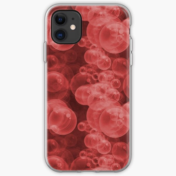 Small Red Water Air Bubbles  iPhone Soft Case