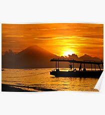 Mount Agung sunset, Bali Indonesia Poster