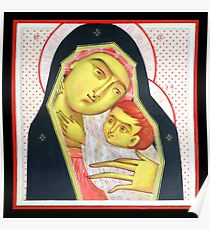 Virgin Mary and the Child Jesus Poster