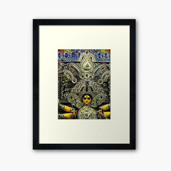 Durga Puja, Ballygunge Cultural Association, Ballygunge, Kolkata, India Framed Art Print