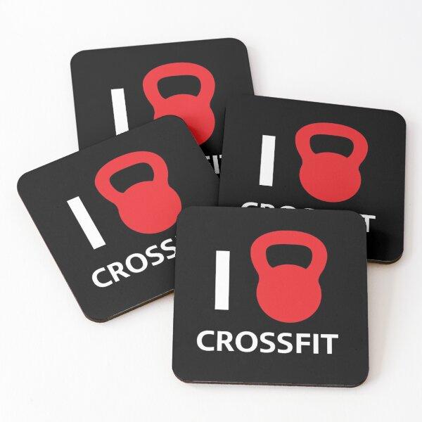 I Love Crossfit Coasters (Set of 4)