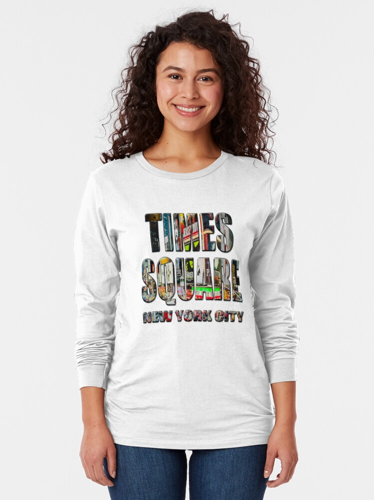 Alternate view of Times Square II (digitally repainted) Long Sleeve T-Shirt