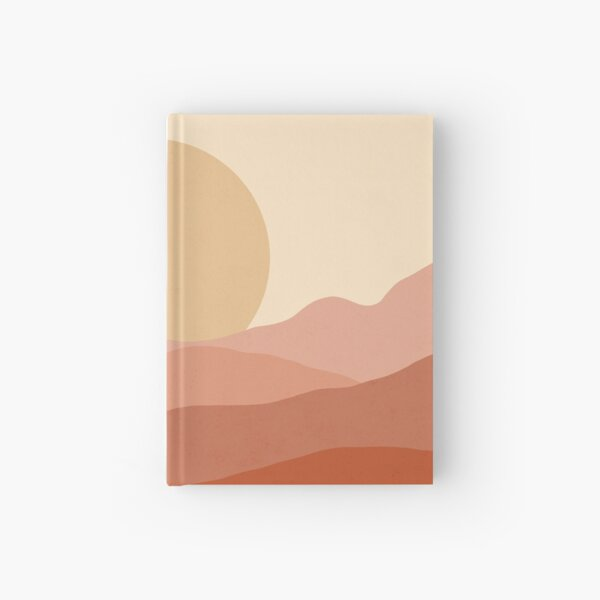 Minimalist Landscape Earth Tones Design | muted tones Hardcover Journal