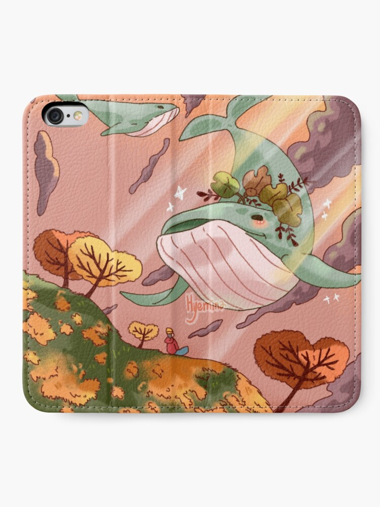 Alternate view of Giant Whales iPhone Wallet