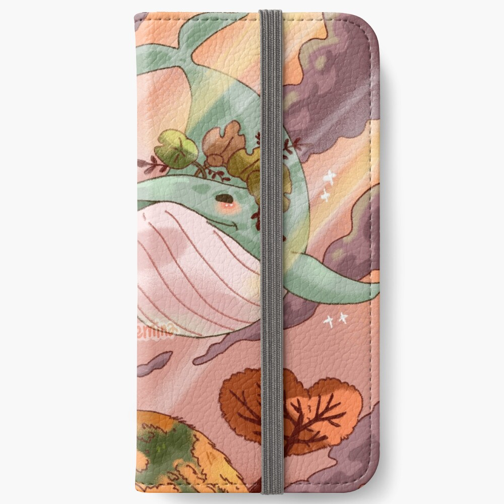 Giant Whales iPhone Wallet
