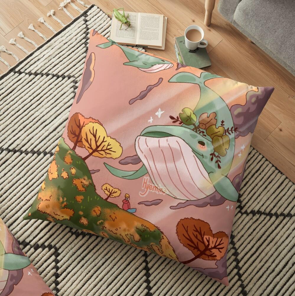 Giant Whales Floor Pillow