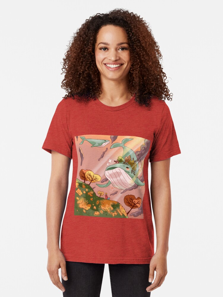 Alternate view of Giant Whales Tri-blend T-Shirt