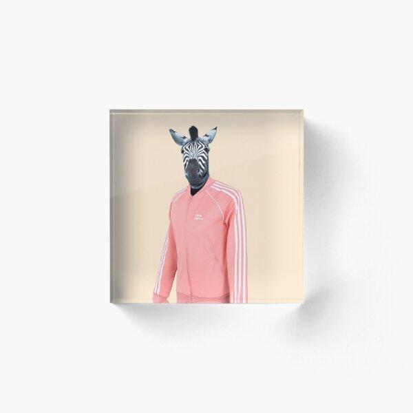 Pink zebra  Acrylic Block