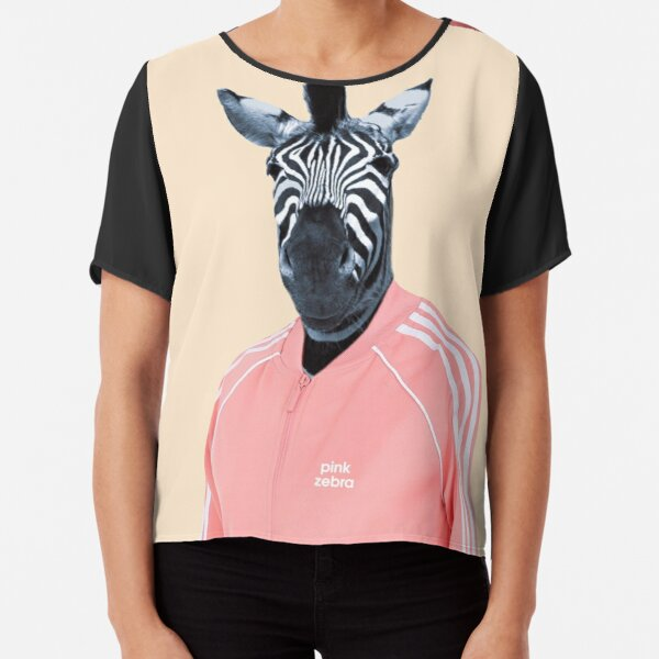 Pink zebra  Chiffon Top