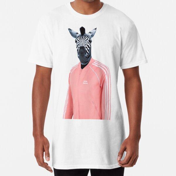 Pink zebra  Long T-Shirt