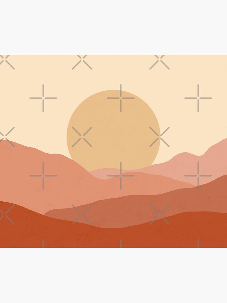 Minimalist Landscape Earth Tones Design | muted tones by trajeado14