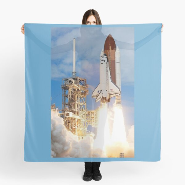 Space Shuttle. BLAST OFF. Discovery lifts off at the start of STS-120. Scarf