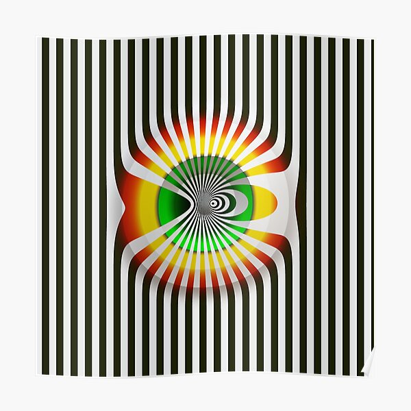 Victor Vasarely Hommage 8 Poster