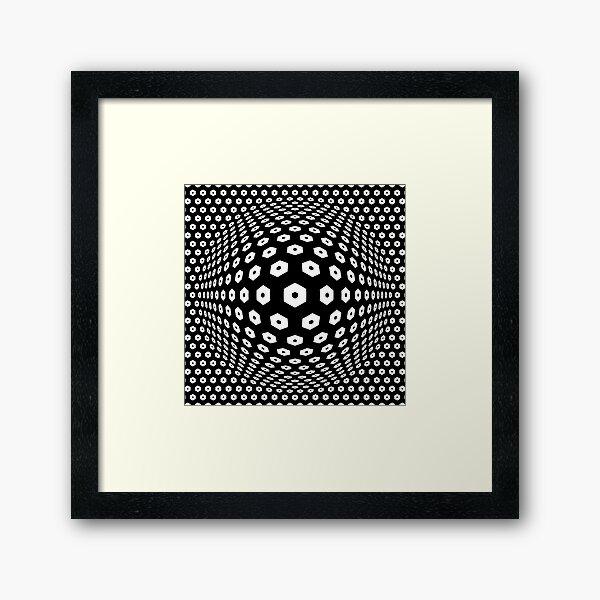 Victor Vasarely Homage 9 Framed Art Print