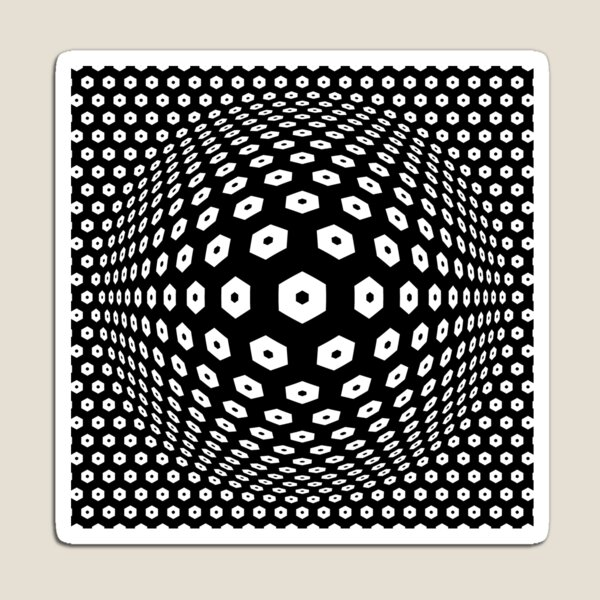 Victor Vasarely Homage 9 Magnet