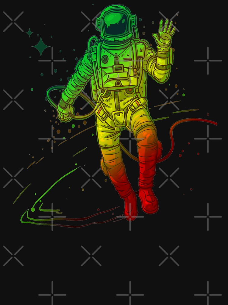 Rasta Dreads Reggae Jamaica Ethiopian Flag Roots Space Man by thespottydogg