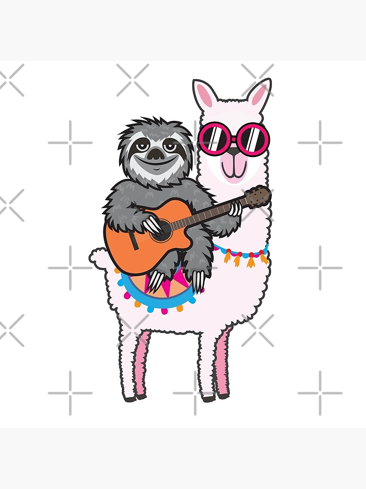 Sloth guitar llama by plushism