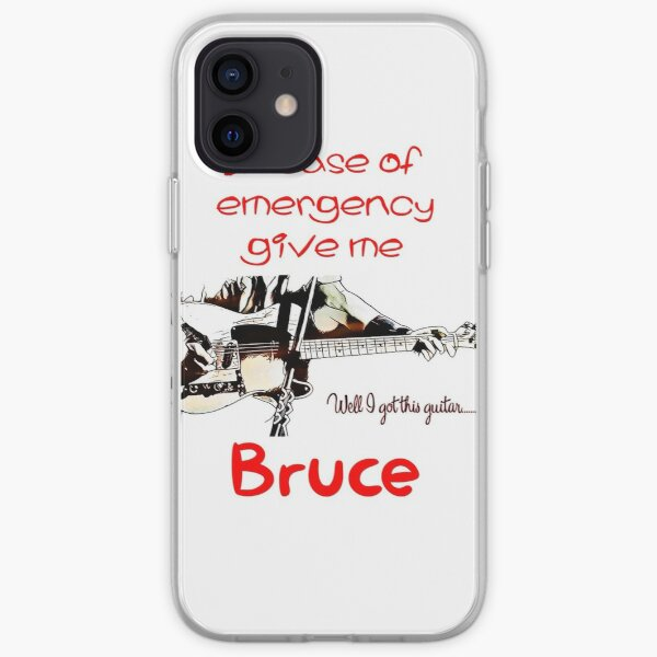 In Case Of Emergency, Give Me Bruce Guitar. iPhone Soft Case
