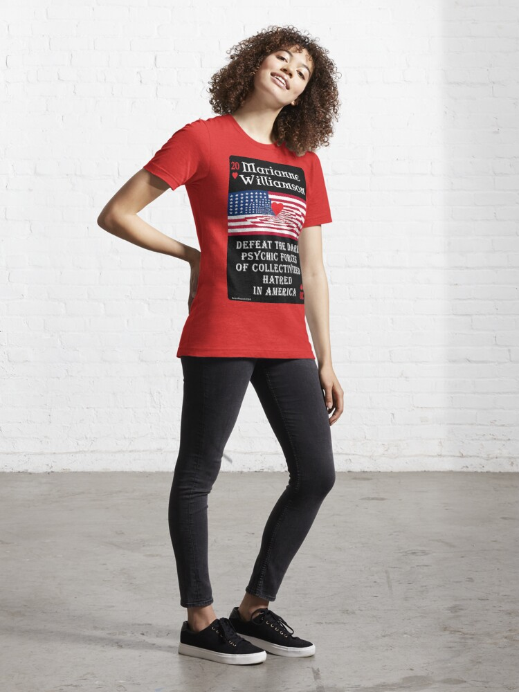 Alternate view of Marianne Williamson Harness Love Card Essential T-Shirt