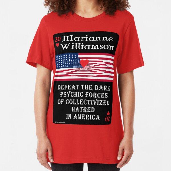 Marianne Williamson Harness Love Card Slim Fit T-Shirt