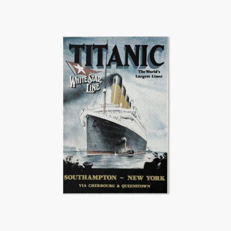 Titanic - Vintage poster Art Board Print