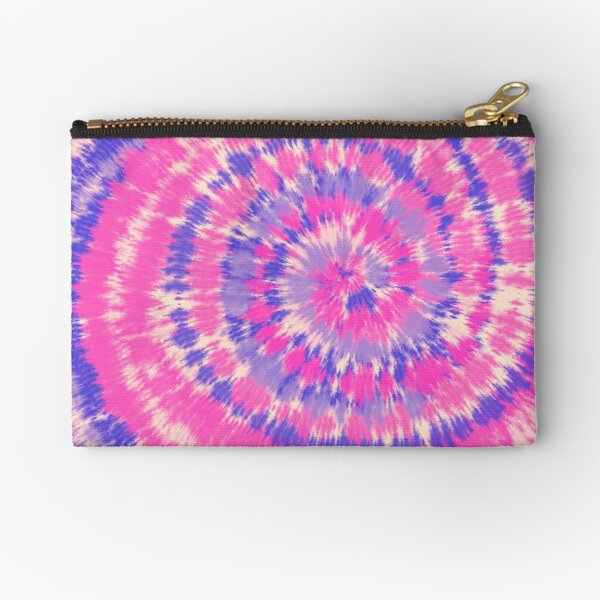 Faded Pinks and Purples Tie Dye Zipper Pouch