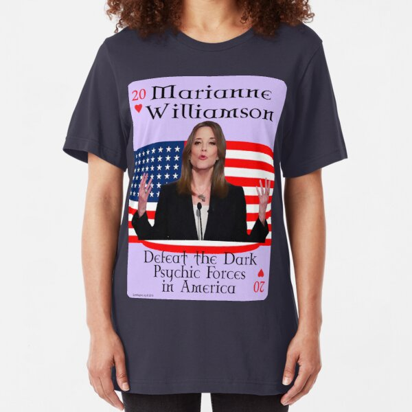 Marianne Williamson Card Slim Fit T-Shirt