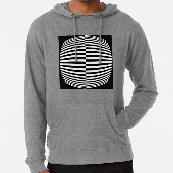 #Pattern, #abstract, #design, #art, geometry, illustration, monochrome, illusion, modern, geometric shape Lightweight Hoodie