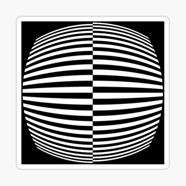 #Pattern, #abstract, #design, #art, geometry, illustration, monochrome, illusion, modern, geometric shape Sticker
