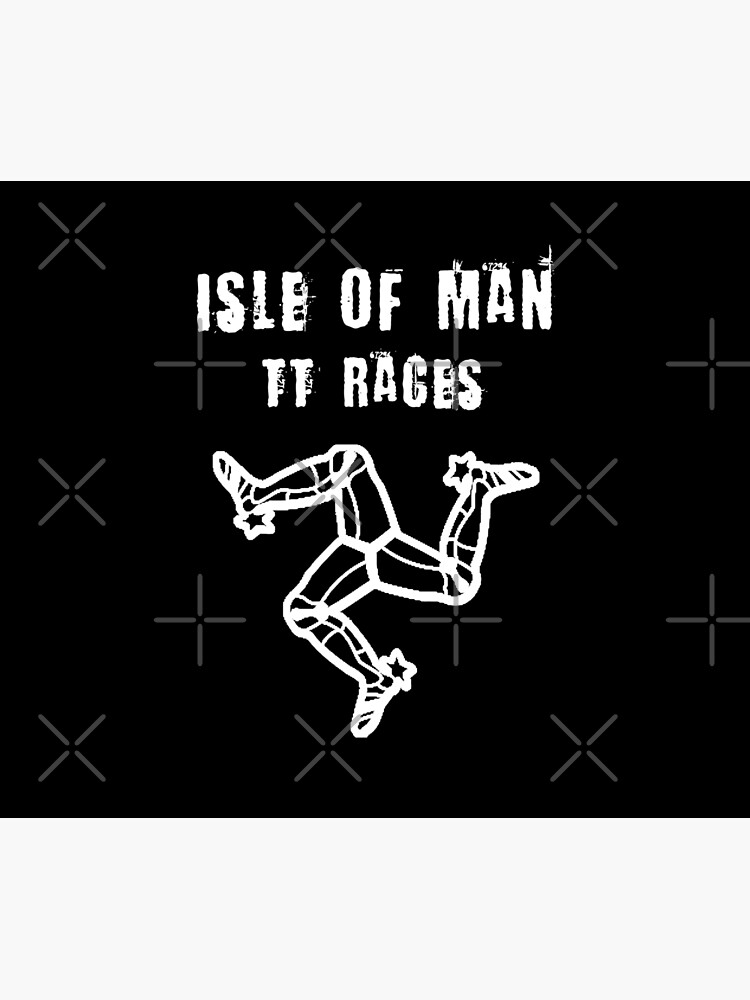 Isle Of Man TT Races 3 Legs Of Man Flag Vintage Retro Celtic Manx Racing Graphic by thespottydogg
