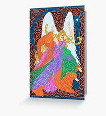 Celtic Nouveau Angel Greeting Card