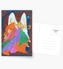 Celtic Nouveau Angel Postcards