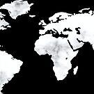 World Map in Marble by Samm Poirier
