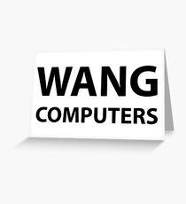 Wang Computers Greeting Card