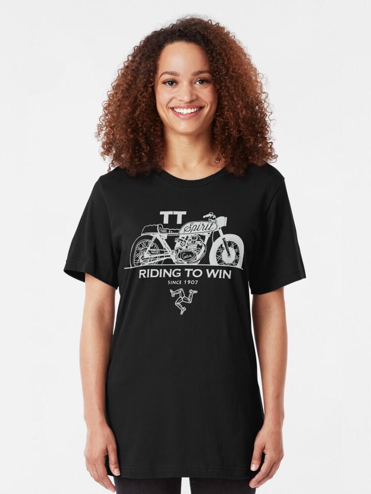 Alternate view of Isle Of Man Manx TT Racing Spirit Of The Racers Tourist Trophy Biker Races Graphic Slim Fit T-Shirt