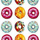 Donuts auf weiß von Yamy Morrell  Art and Design