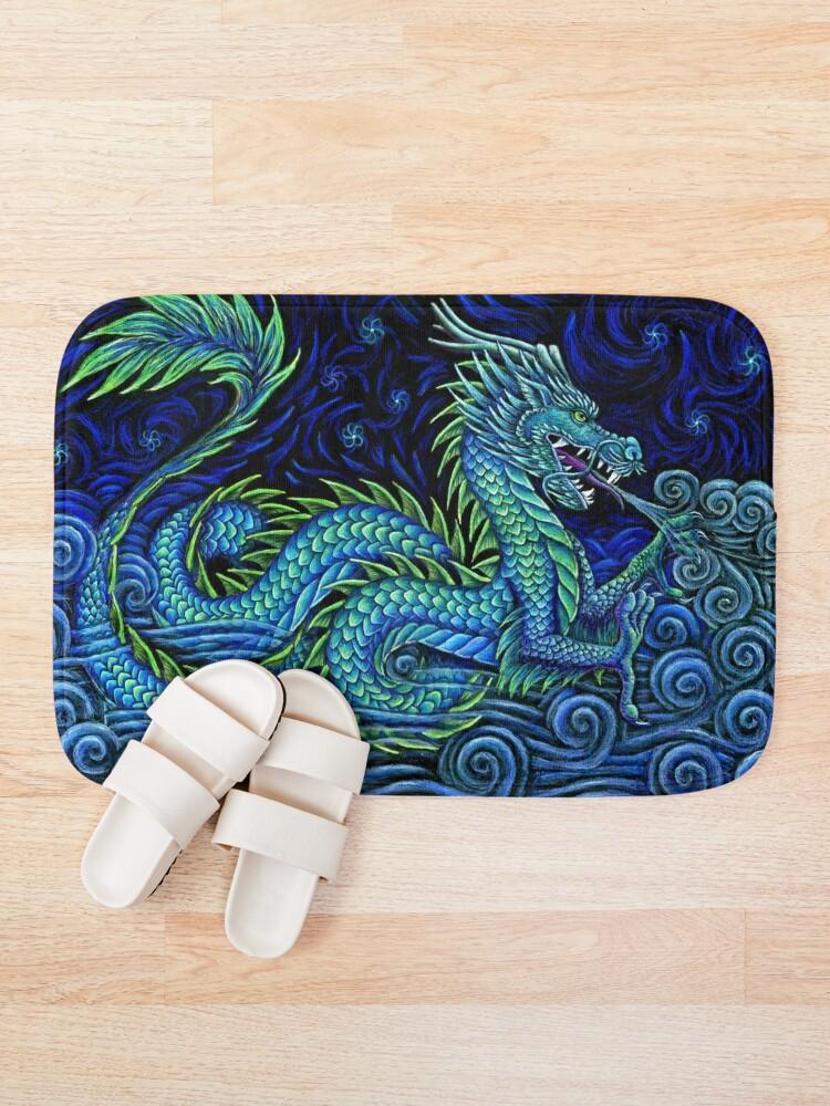 Alternate view of Chinese Azure Dragon Bath Mat