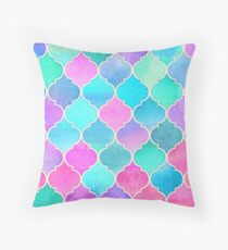 Bright Moroccan Morning - pretty pastel color pattern Throw Pillow