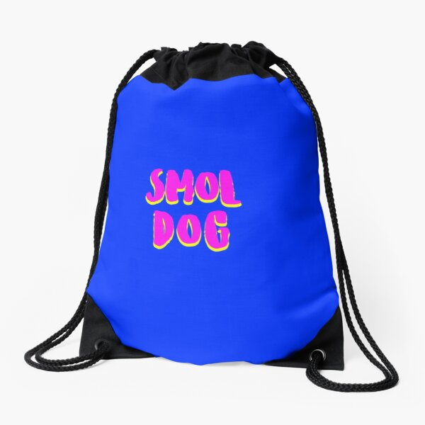 Smol Dog Drawstring Bag