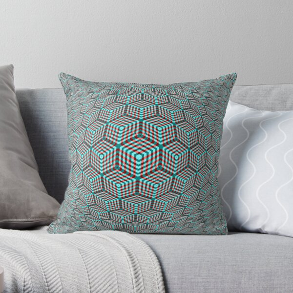 Victor Vasarely Homage 12 Throw Pillow