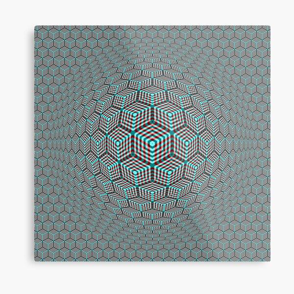 Victor Vasarely Homage 12 Metal Print