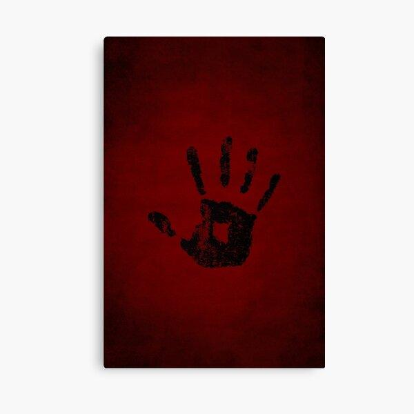 Dark Brotherhood Logo · Distressed Canvas Print