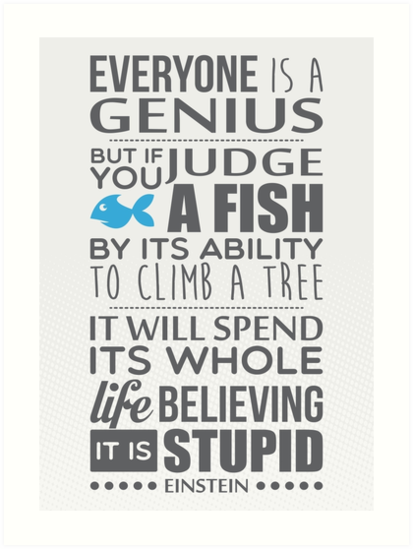 Image result for if you judge a fish poster