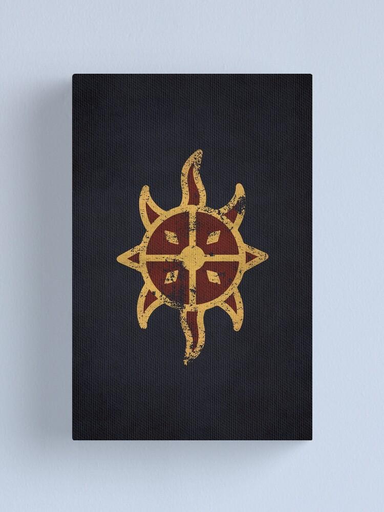 Alternate view of Dawnguard Logo · Distressed Canvas Print