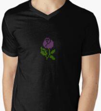 Li'l Roses: Purple Men's V-Neck T-Shirt