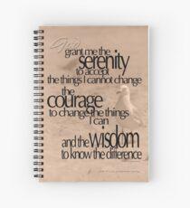 Serenity Prayer 03 © Vicki Ferrari Spiral Notebook