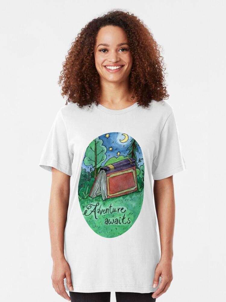 Alternative Ansicht von Das Abenteuer wartet Slim Fit T-Shirt