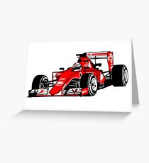 Formula One Racer Greeting Card